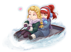 Dashing Through the Snow.. by Miisu