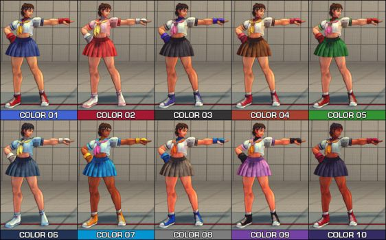 Sakura Colour Pack - SF4 Mod by Jiggeh