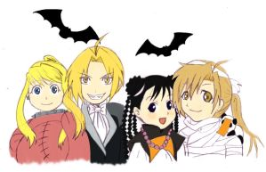 FMA- Happy Halloween by DigiAngeFan