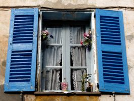 blue window by Dieffi