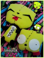 Gir Plushies, Invader Zim by Horror-Scarred