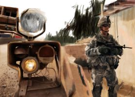 Tank and soldier by brinjal