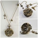 Cthulhu Pocket Watch Necklace by ArchandSoul