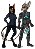 Nauei and Iserus 2012 by DarkRavenofChaos