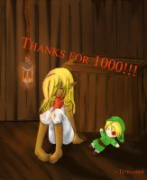 Thanks for 1000 by Tetra-hime