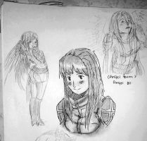 YEESH!!! Angela Sketches (Angel form) by XBloodClash-mumblesX