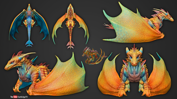 Playing with Sculptris #6 - Bull Syn Wyvern by Rebecca1208
