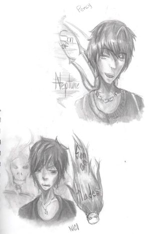 Percy Jackson and Nico di Angelo sketch