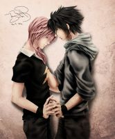 Noctis and Lightning by SerenaKaori87