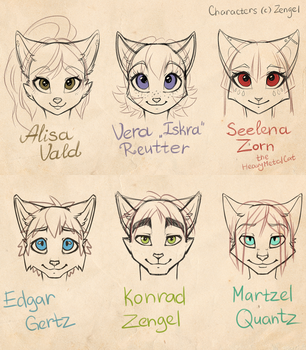 My catpeople face comparision by Zengel