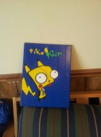 Pika-Gir Duct tape canvas art by Dani-izzle