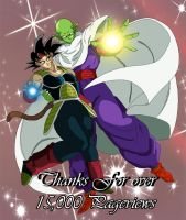 Thanks for 15,000 Pageviews by DarkAngelxVegeta