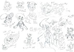 Scribble Scribbles In Pencil by Kittychan2005