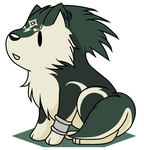 Sitting Chibi wolf Link by QueenCarolina