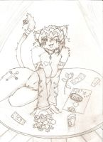sexy cat -penciled- by shaa619
