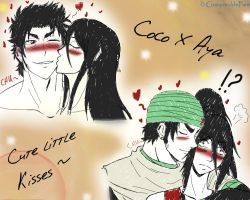 Coco x Aya - Cute little kisses by GueparddeFeu