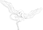Flight of Fancy-- Sketch by Lyiba-MoonEyes