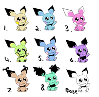 pichu adoptables CLOSED by Anceldaria