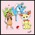 Pokemon X Y Starters by Little-Miss-Mello