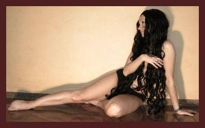black wig 12 by Lisajen-stock