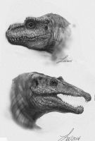 Dino Babies Head Doodles by TwoDD