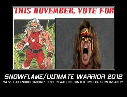 Snowflame and Ultimate Warrior Presidential Poster by pharmmajor