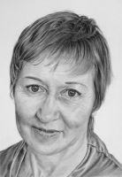 Pencil portrait of Caroline by LateStarter63