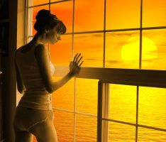 Longing at Sunset Detail by gscbw