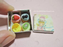 Miniature Fruity Cupcakes Box by ilovelittlethings