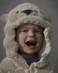 Child dressed as a polar bear by swmo