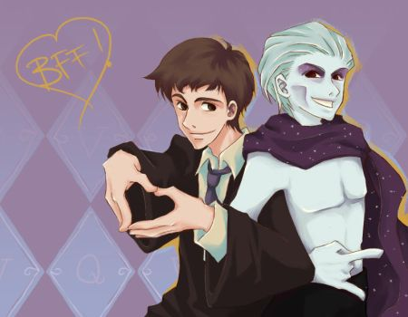 Voldemort+Quirrell - BFF by shorelle
