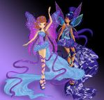 Bettina and Tenebrae Harmonix by werunchick