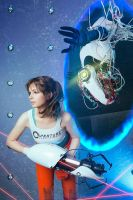 I hate you Chell by AGflower