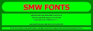 Super Mario World Fonts by TheSharkMaster