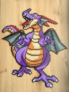 Custom Dragonlord (Dragon Quest)- Hama Bead Design by Dogtorwho