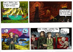 Hobbit Comic, with Gollum and other familiar faces by Mikkellll