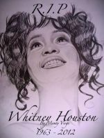 Drawing Whitney Houston 1963-2012 by MontyKVirge