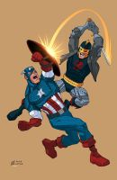 Captain America VS Black Knight by K-Bol