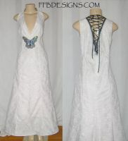 White long butterfly dress by funkyfunnybone