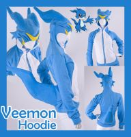 Digimon Veemon Cosplay Hoodie by calgarycosplay