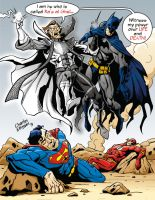 R'as Al Ghul as a Black and White Lantern Combo by CharlesEttinger