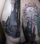 Castle in the forest by RawGraff