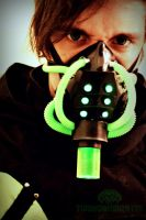 The Meltdown Cyber light up respirator by TwoHornsUnited