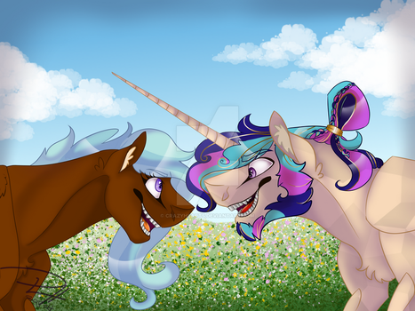 WillowBreeze and HeartShield by CrazyHearts