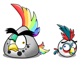 Lightning Rainbow and Whitefeather trailer style by koshechkazlatovlaska