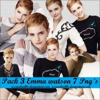 Pack 3 Emma Watson Png by oscarelnoble