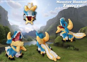 Monster Hunter - Zinogre Pokedoll! by xBrittneyJane