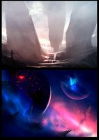 Bitfiction Speed Paintings by GeorgeLovesyArt