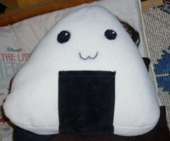 onigiri pillow by Starleaf-Creations