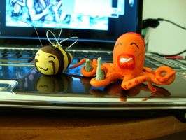 Octo-Pickles and Toki-Bee 2 by AndreaOfTheLand